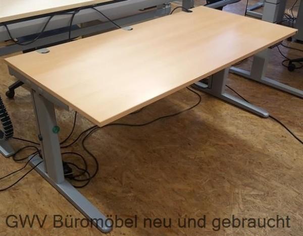 K & N - Steh- Sitz- Schreibtisch 160 cm, buche