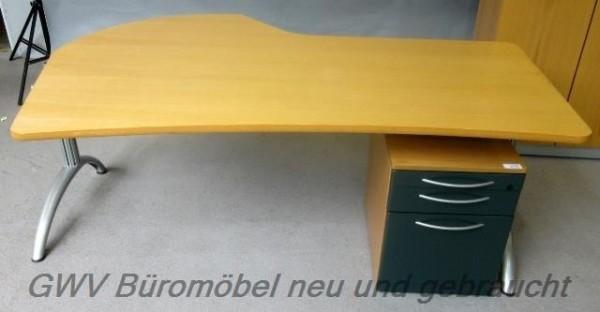 Fortschritt - Freiform- Schreibtisch 180 cm, buche