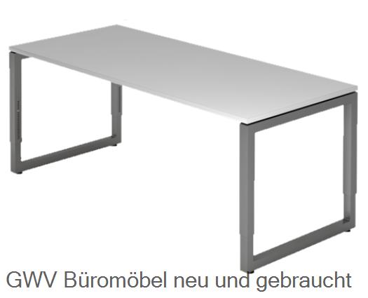 schreibtisch 180 x 80 cm tischplatte plattenst rke 2 5 cmmelaminharzbeschichtet c fu gestell. Black Bedroom Furniture Sets. Home Design Ideas
