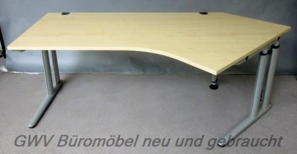 MBT - Freiform- Schreibtisch 135°, Rechts, ahorn