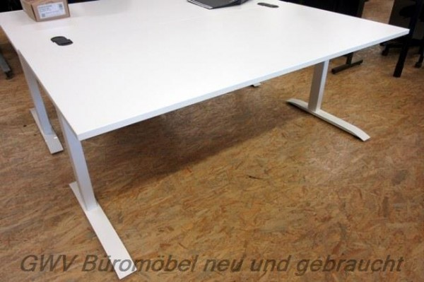 Febrü - Steh- Sitz- Schreibtisch 160 x 80 cm, weiß