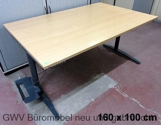 Assmann - Steh- Sitz- Schreibtisch 160 x 100 cm