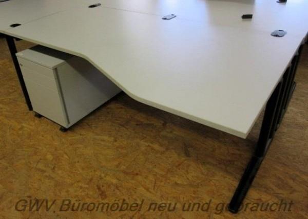 MBT - Freiform- Schreibtisch (R) 180 cm, grau