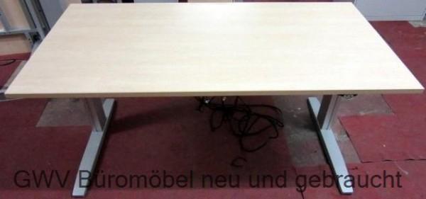 CEKA - Steh- Sitz- Schreibtisch 160 cm, ahorn
