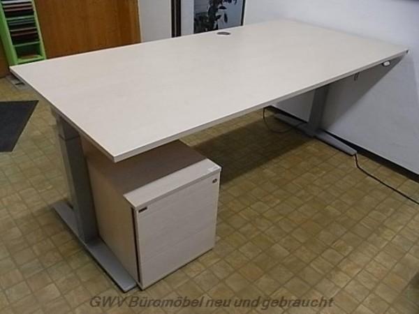 K & N - Steh- Sitz- Schreibtisch 200 cm, ahorn
