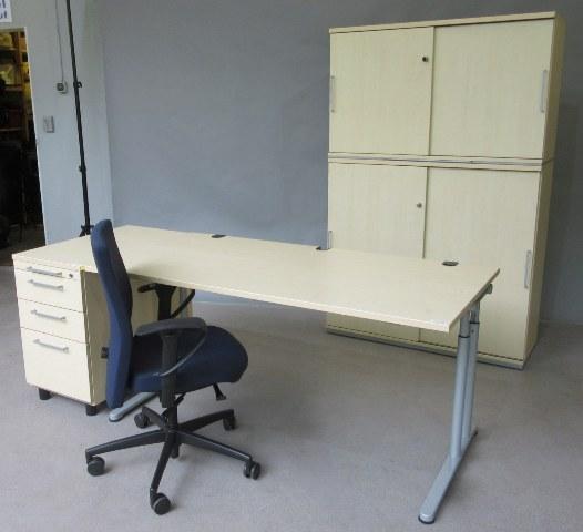 SET-Angebot-ahorn-Moebel-bueromoebel-5-ordnerhohenen-schrwarzer-blauer-stuhl-160-cm-tisch-standcontainer-online-guenstig-kaufen-sparen-7