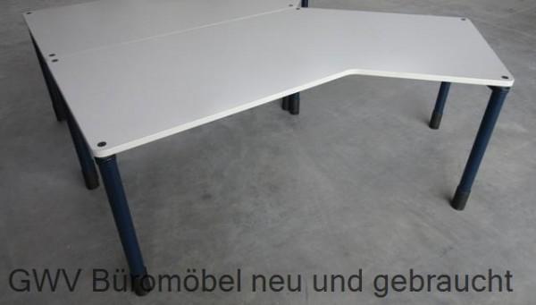 Werndl - Freiform- Schreibtisch grau, Rechts