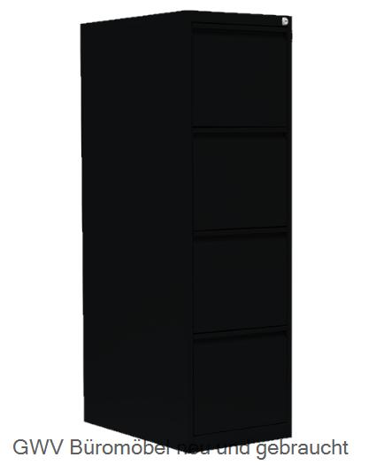 Büromöbel schrank hängeregister  Stahl Haengeregisterschrank 4 schuebe grau metall   GWV Büromöbel ...