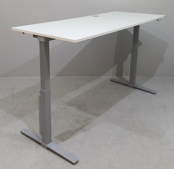 K & N - Steh- Sitz- Schreibtisch 200 cm, weiß Talo.s