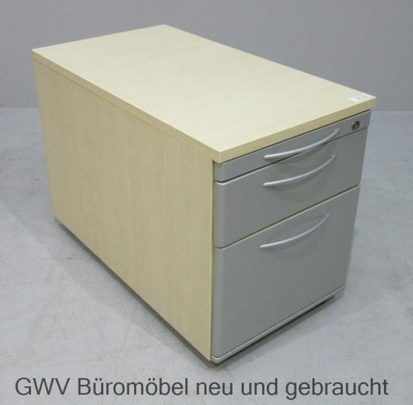 K & N - Rollcontainer T 80 cm, grau/ ahorn HR