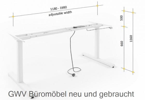 Steh-Sitz-Tischgestell aluminium