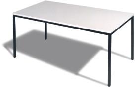 Besprechungstisch 4- Fuß, B 120 cm grau