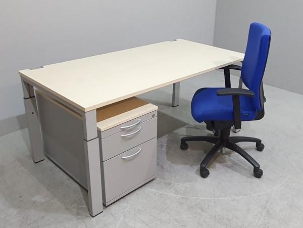 Set 3-teilig - Tisch 180 cm + Container + Stuhl