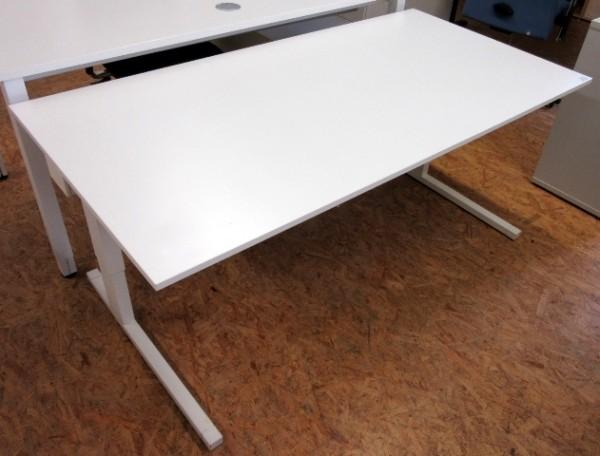 Steelcase - Schreibtisch 160 cm HV, weiß/ weiß