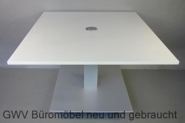 Besprechungstisch 120 x 120 cm, weiß
