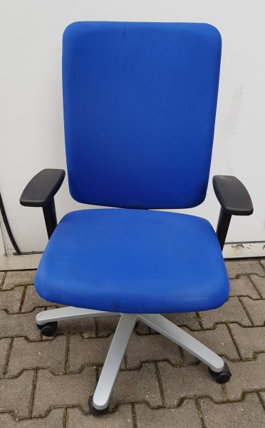 K & N - Bürodrehstuhl mit HV-AL, blau