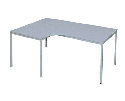 Freiform- Schreibtisch 180 x 120 cm (L), lichtgrau