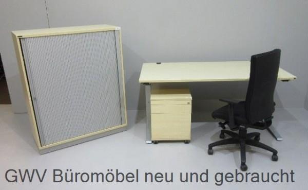 SET 4-teilig - Tisch 160 cm + Cont.+ Querr.+ Stuhl