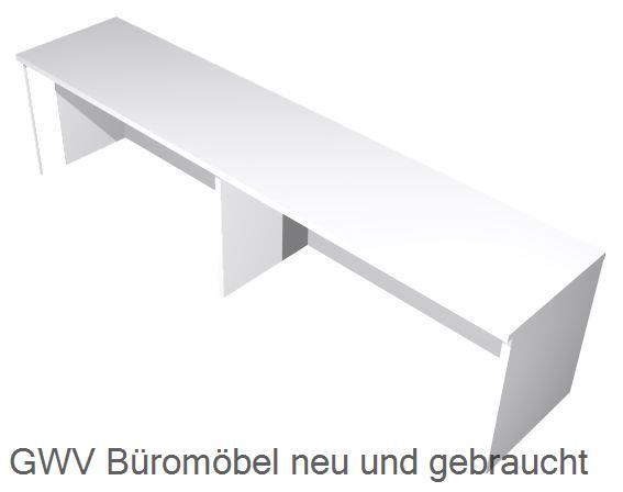 Thekenaufsatz für Schreibtische B 160 cm, grau