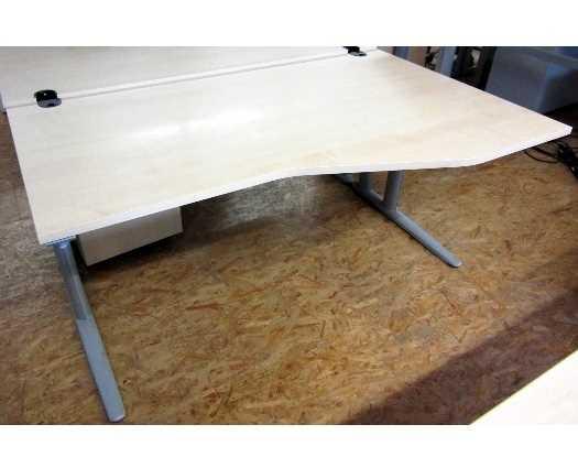 MBT - Freiform- Schreibtisch 160 cm (R), ahorn