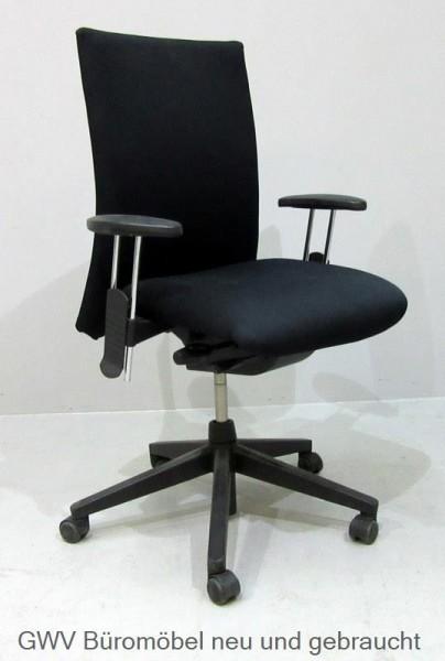 Comforto Bürodrehstuhl Schwarzstoffbezug Sitz Und Rücken Schwarz