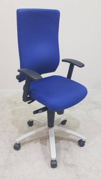 Dauphin magic - Bürodrehstuhl blau, Fuß alugrau