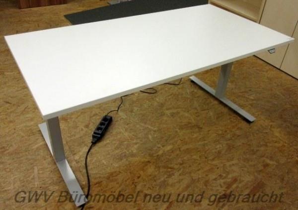 Büromöbel weiß gebraucht  Steh-Sitz-Schreibtisch 160 cm, weiß/alu | Büromöbel sofort | GWV ...