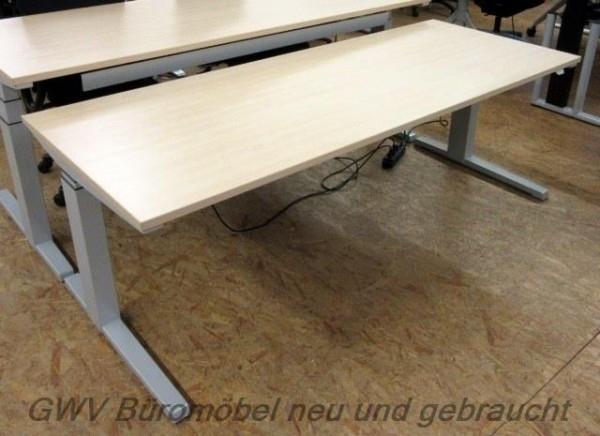 Steelcase - Steh- Sitz- Schreibtisch 200 cm, ahorn
