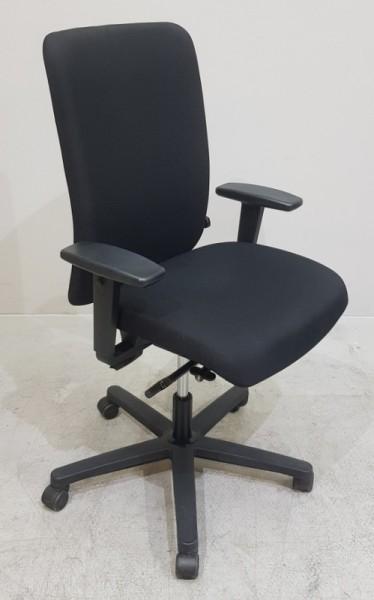 K & N - Bürodrehstuhl mit Armlehnen, schwarz