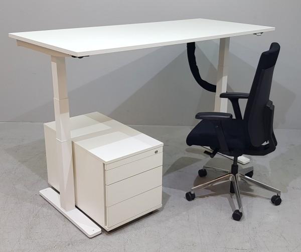 Kinnarps Set - Steh-Sitz-Tisch + Container + Stuhl