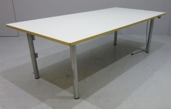 VS - Steh- Sitz- Schreibtisch 200 cm, weiß