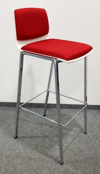 K & N - Barhocker weiß / rot
