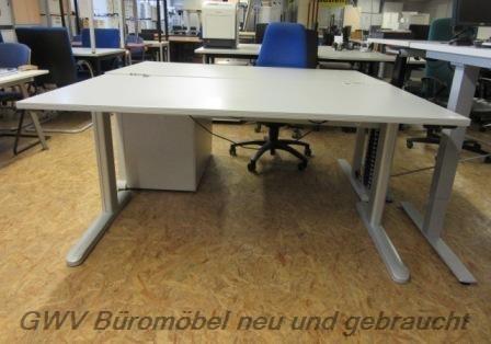 CEKA - Steh- Sitz- Schreibtisch 160 cm, sahara