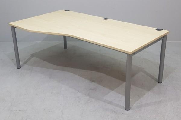 MBT - Freiform- Schreibtisch 180 cm / L, ahorn