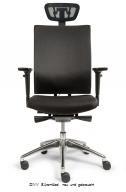 Bürodrehstuhl EX m. Kopfstütze, schwarz