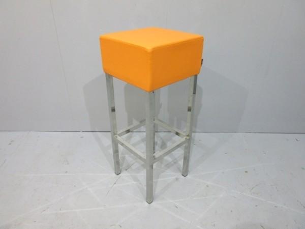 SMV - Barhocker - Bezug Lederoptik orange