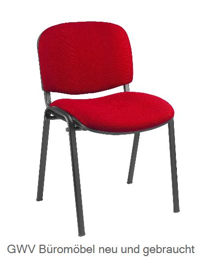 Besucherstuhl gepolstert, rot