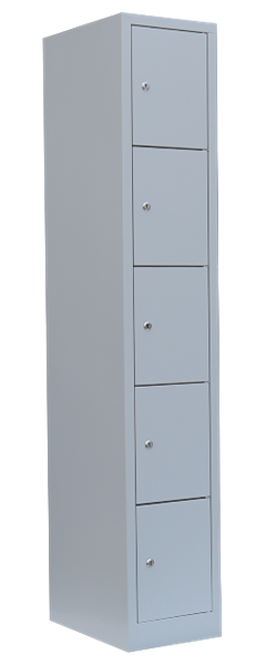 Personal-Fächer-Schrank / 5 Fächer, H 190 cm
