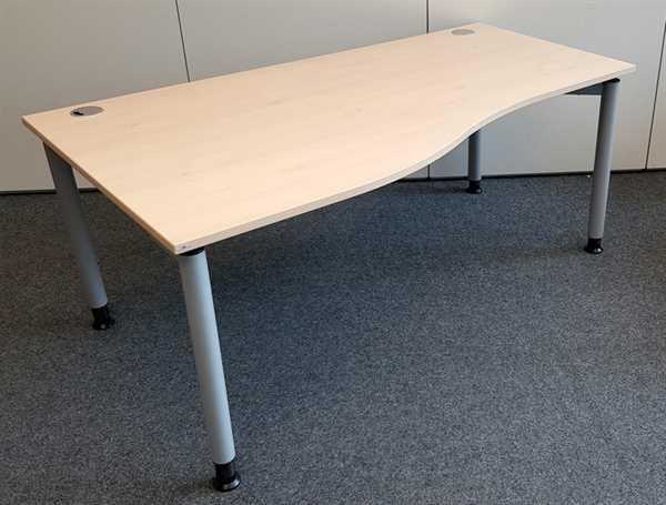 SM - Freiform- Schreibtisch 180 cm / L, ahorn