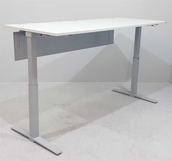 K & N - Steh-Sitz-Schreibtisch 200 cm, grau Talo.S