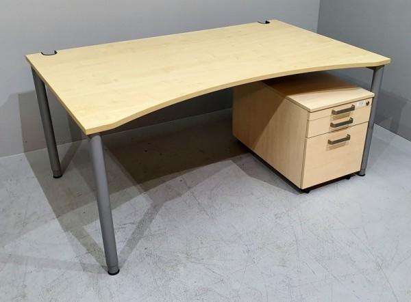 SET 2-teilig- Tisch 160 cm + Cont