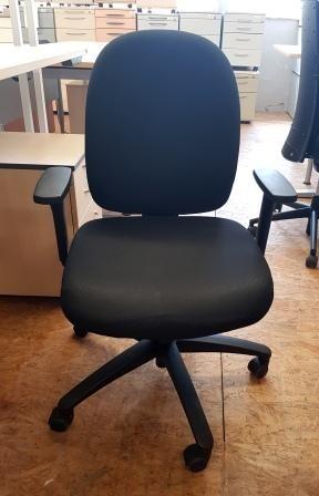 Trendoffice - Bürodrehstuhl schwarz m. Al