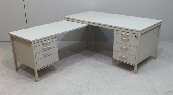 Assmann - Winkel-Schreibtisch m. Unterbaucontainer