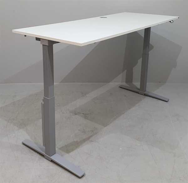 K & N - Steh-Sitz-Schreibtisch 180 cm, weiß Talo.S