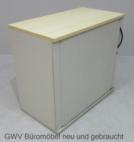 Werndl - Sideboard 2 OH, B 80 cm, grau/ahorn