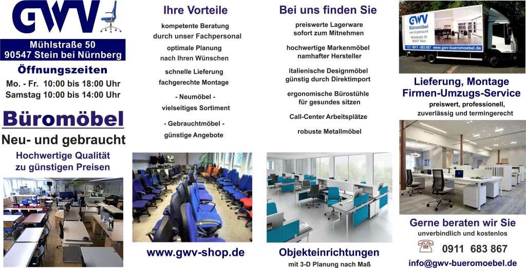 GWV - Flyer | GWV Büromöbel gebraucht - sofort lieferbar