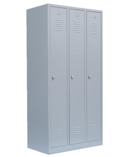 Stahl- Kleider- Schrank 3- Abteile, Beschädigt