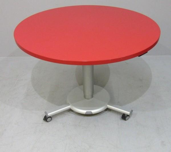 K & N - Steh- Sitz- Besprechungstisch D 80, rot
