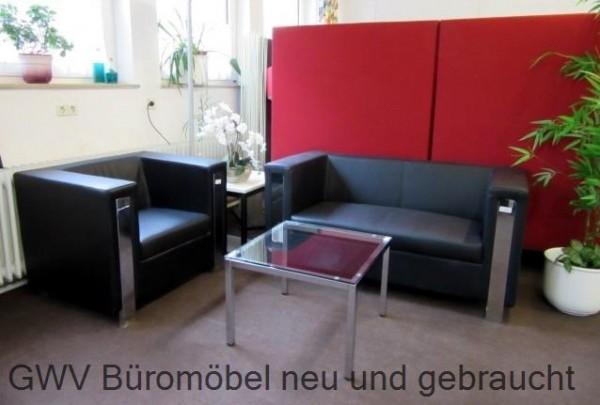 Sitzgruppe Empfangsmobel Loungesofa Tisch Glastisch Buromobel Sofort