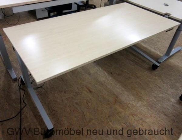 Steh-Sitz-Schreibtisch 180 x 90 cm, ahorn mobil